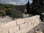 Gartenmauer Mauer Jurakalk Detligen