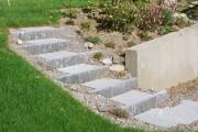 Gartentreppe Treppe Stellplatten Granit Bern