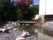 Wassergarten Gartenteich Gartenteich Sitzplatz