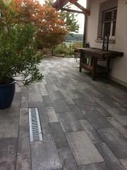 Wege und Plätze Bodenplatten  Manhatten Creabeton