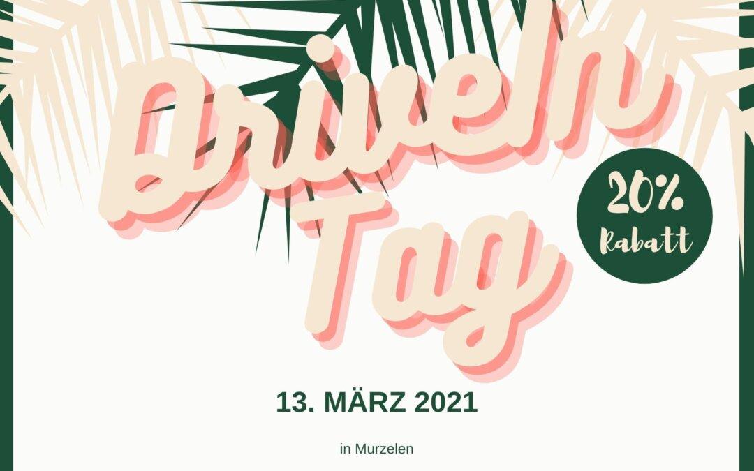DriveIn-Tag: Samstag, 13. März